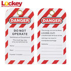 Lockey Custom PVC Warning Scaffold Safety Tags Lockout Waterproof Isolation Tags